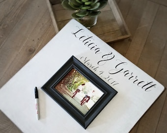 Guest Book Picture Frame, Rustic Guest Book, 20x20 The Sugared Plums Frames