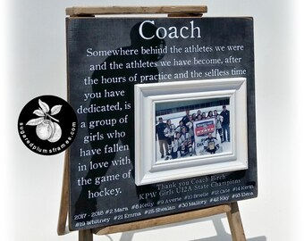 Hockey Coach Gift, Hockey Picture Frame, Hockey Gift, Coach Thank You Gift, Hockey Senior Gifts, 16x16 The Sugared Plums Frames