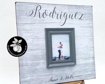 Beach Wedding Guest Book Alternative, Driftwood Beach Decor, Rustic Guest Book, 20x20 The Sugared Plums Frames