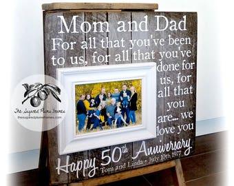 50th Anniversary Gifts, 25th Anniversary Gifts, Parents Anniversary Gift, Anniversary Frame, 16x16 The Sugared Plums Frames