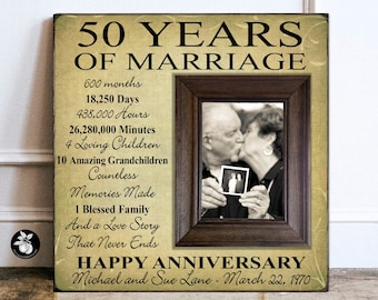 50th Anniversary Gifts For Parents Etsy
