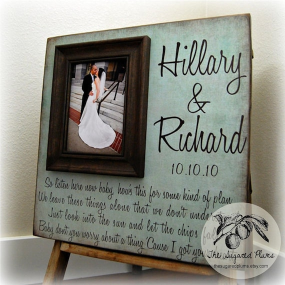 Bridal Shower Picture Frame Wedding Wedding Gift 16x16 Etsy