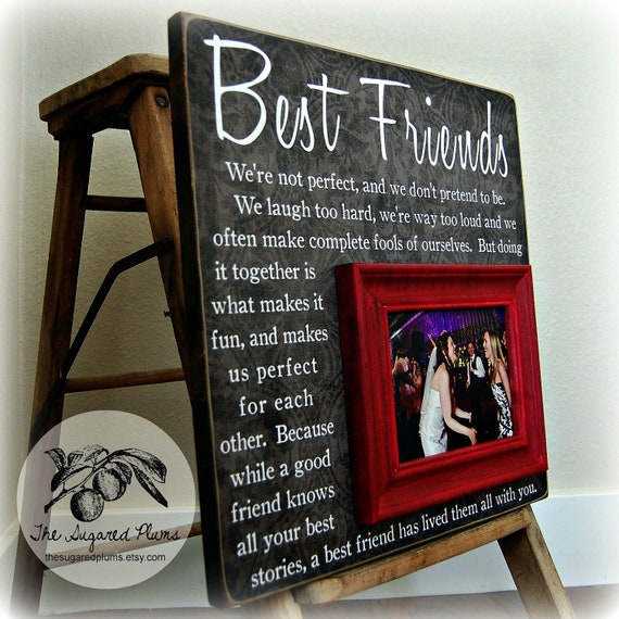 Best Friend Gift Long Distance Picture Frame BFF Birthday