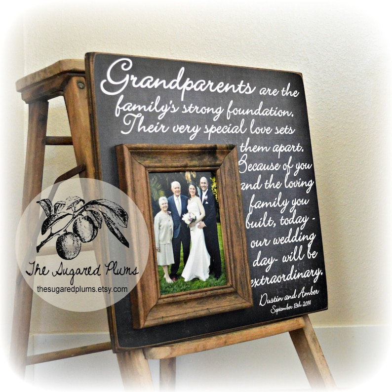 b41a554e49 Grandparents Thank You Wedding Thank You Gift For | Etsy