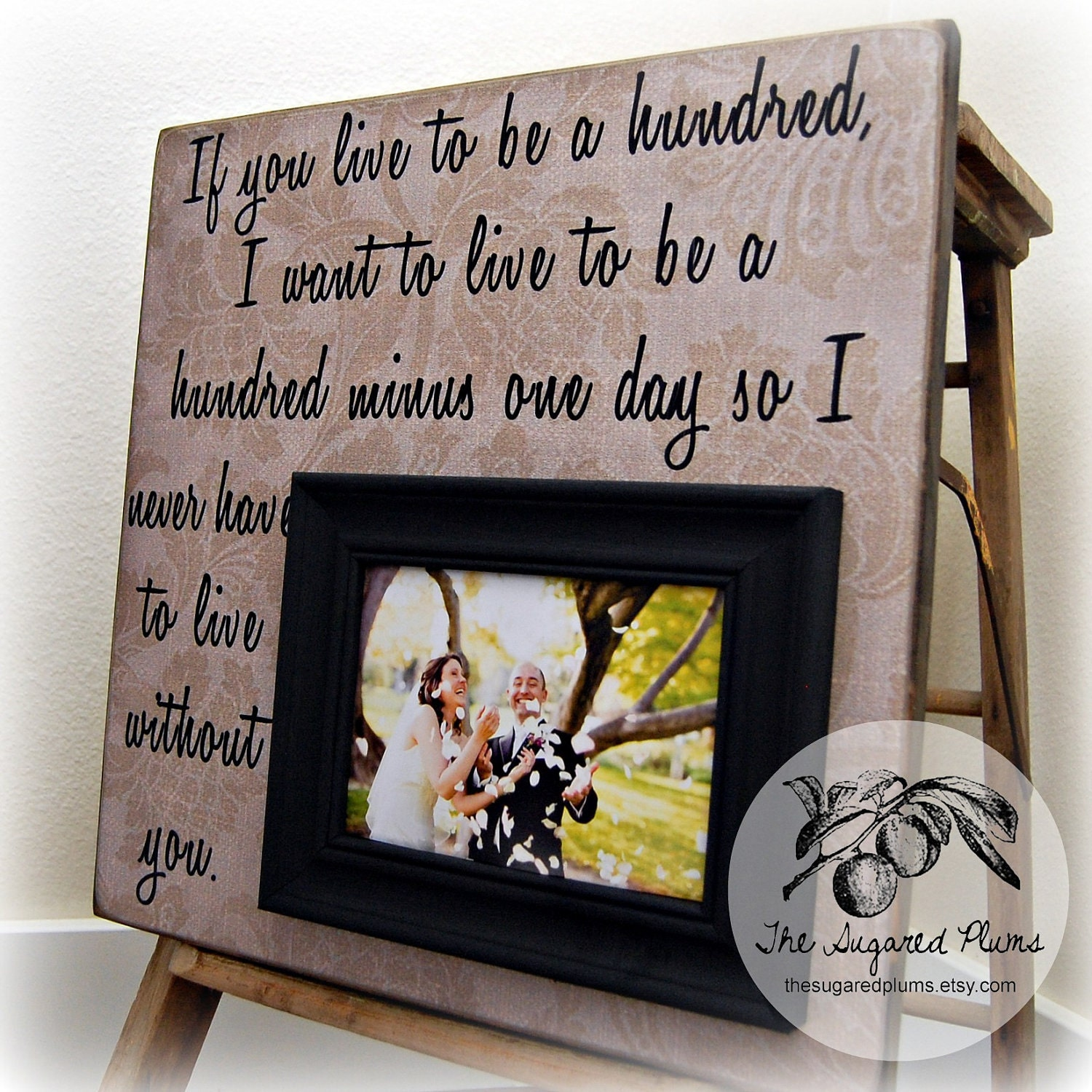 Anniversary Wedding Gift: Personalized Picture Frame Wedding Gift Anniversary Gift