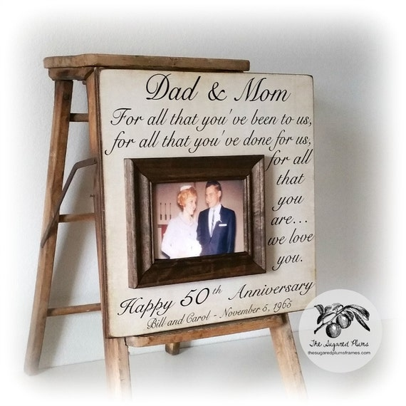 50th Anniversary Gifts 50th Wedding Anniversary Gifts Etsy