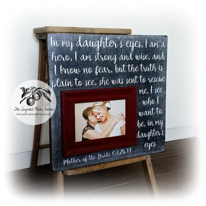 Mother of the Bride Gift Mother of the Groom Gift Wedding gift for Mom gift Wedding Mother of the Bride Frame Mother of the bride gift from