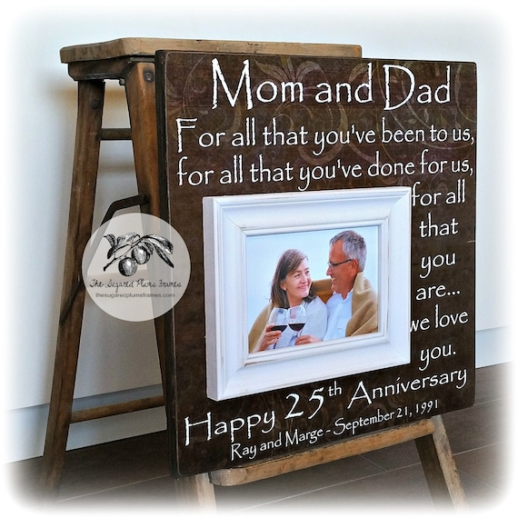 25th Anniversary Gifts For Parents Silver Anniversary Gift Etsy