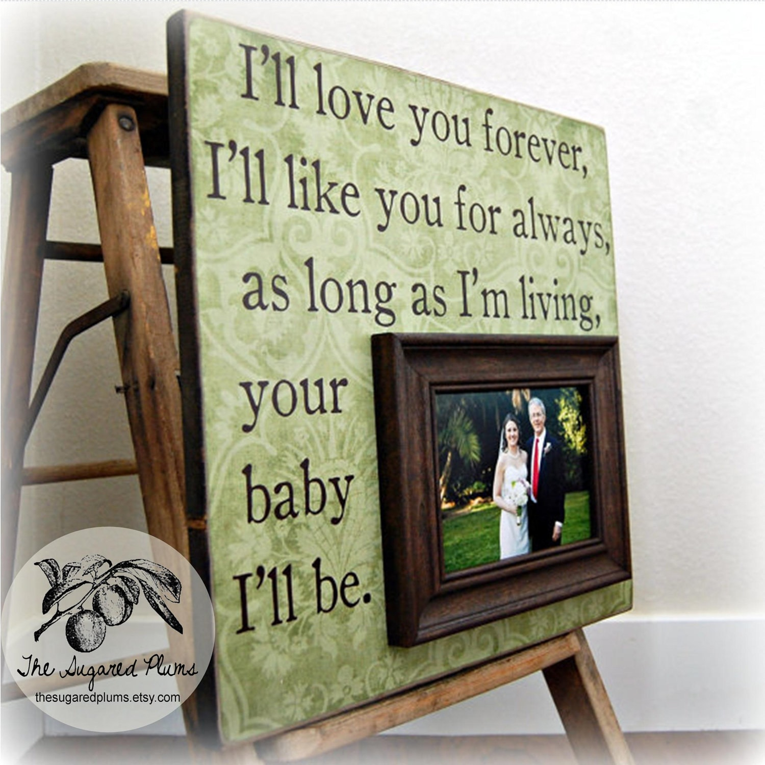 Father Of The Bride Personalized Frame Custom Wedding Gift
