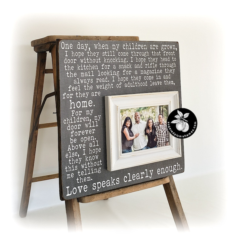 One Day When My Children Are Grown Sign, Picture Frame