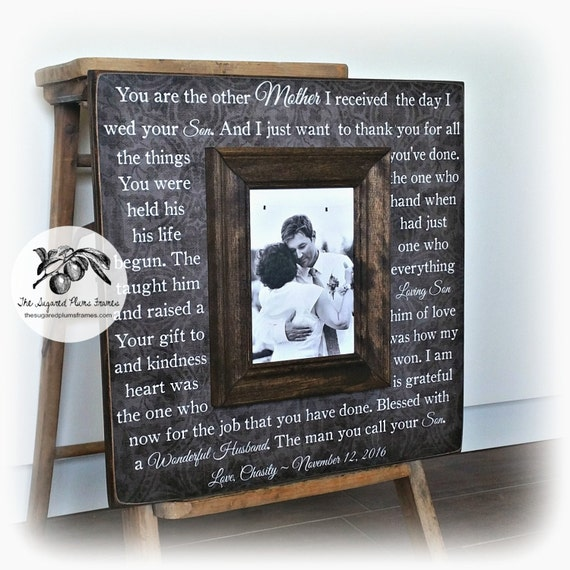 Mother Of The Groom Wedding Gift Mother Of The Groom Frame Etsy