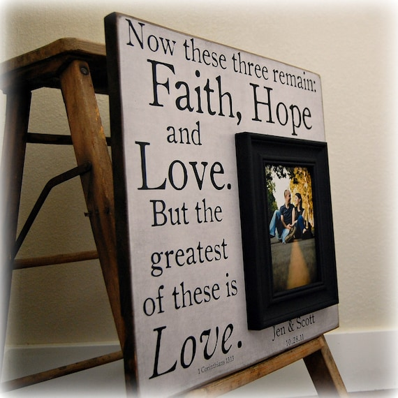 Faith Hope Love Personalized Picture Frames Wedding Gift Etsy
