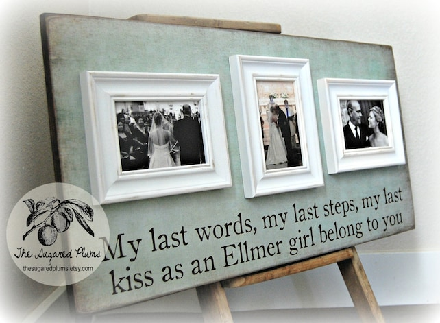 Personalized Picture Frame Custom 16x30 Anniversary Love Etsy