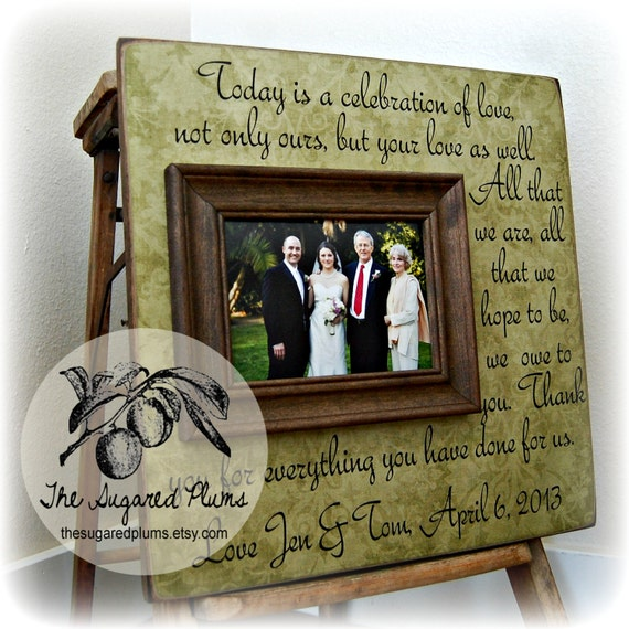 PARENTS THANK YOU Wedding Frame Today Is A Celebration Of | Etsy