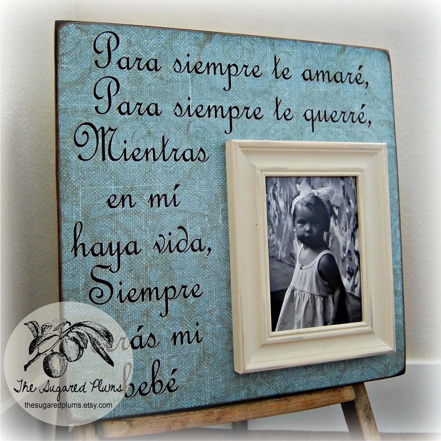 Baby Picture Frame Personalized Spanish 16x16 I Ll Love Etsy