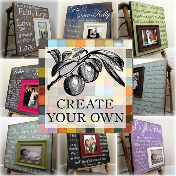 Create Your Own 16x16 Personalized Picture Frame Wedding Etsy