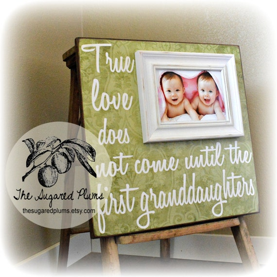 Twins Gift For Grandparents Personalized Grandparents Frame Etsy