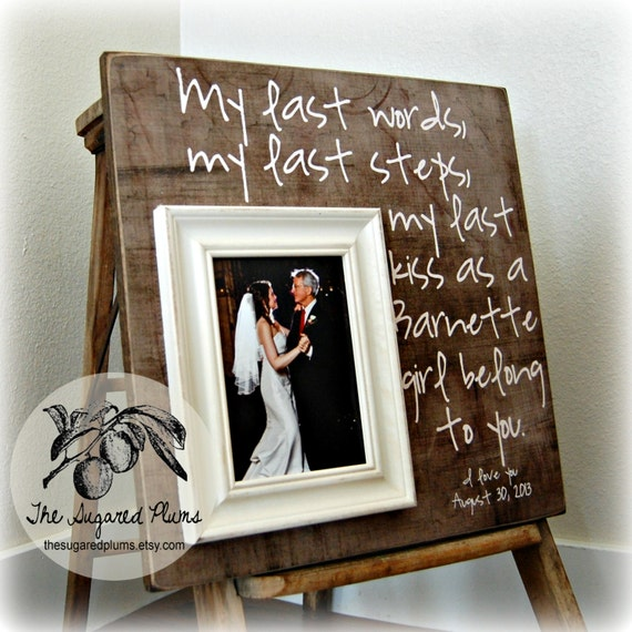 New Father of the Bride Gift, Father of the Bride Frame, Father ...