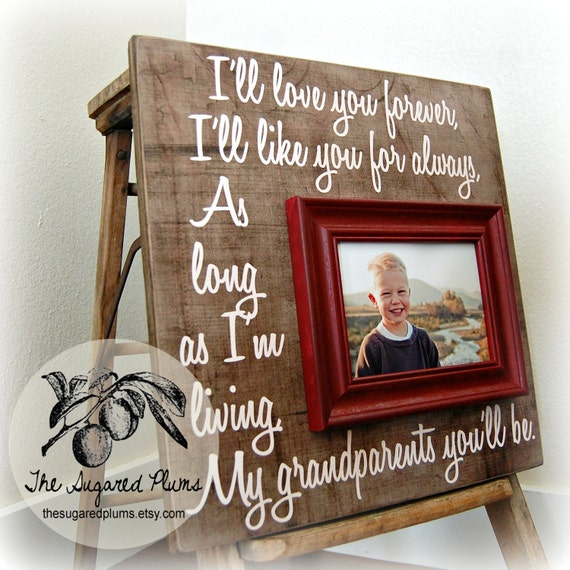 GRANDPARENTS GIFT Mothers Day Gift Personalized Frame 16x16 Grandma ...