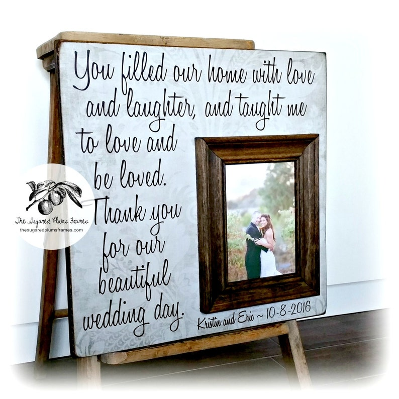 Wedding Gifts for Parents You Filled Our Home With Love and image 0