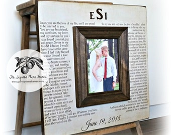 Anniversary Gift for Women, Wedding Vows Picture Frame, First Dance Lyrics, 16x16 The Sugared Plums Frames