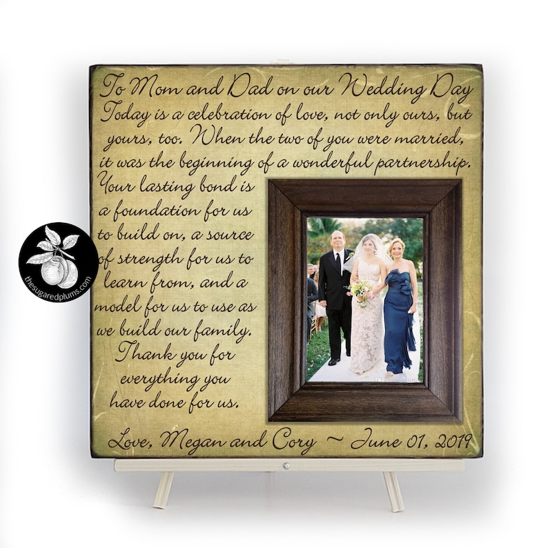 Parents Wedding Gift Parents of the Groom Father of the image 0