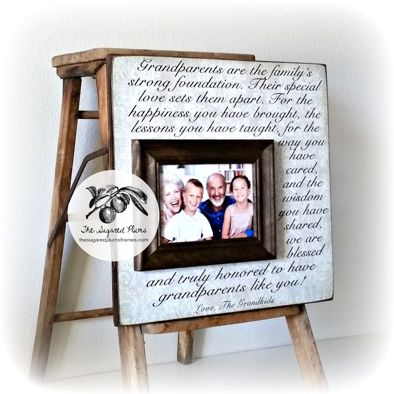 Personalized Grandparents Picture Frame Grandparents Gifts | Etsy