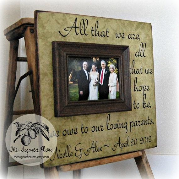 Eltern Danken Ihnen Geschenke Hochzeit Personalisierte Bilderrahmen 16 X 16 Alle Die Wir Sind Jahrestag Liebe Vater Der Braut Mutter Der Braut