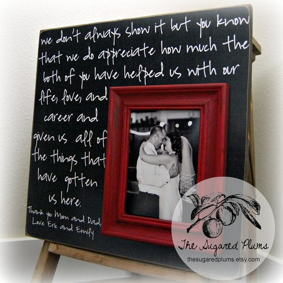 Thank You Gifts For Parents Wedding: Wedding Thank You Parents Thank You Gift Father Of The