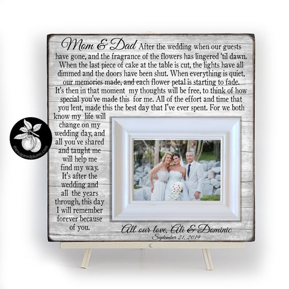 Wedding Thank You Parents Wedding Gift Wedding Frame 16x16 The Sugared Plums Frames