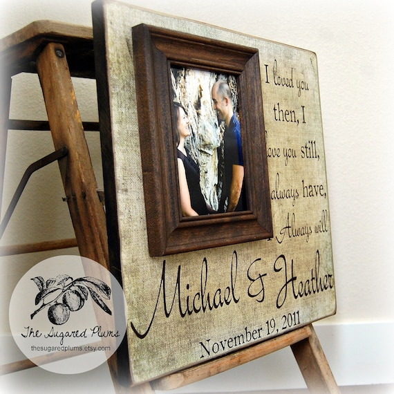 Personalized Wedding Frame Wedding Picture Frame Wedding Etsy