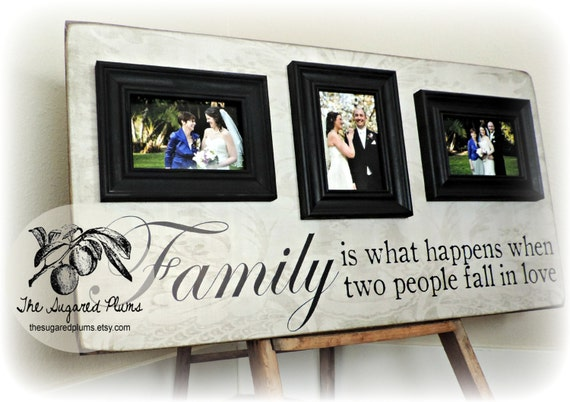 Personalized Picture Frame Family Name Sign 16x30 Parents Etsy