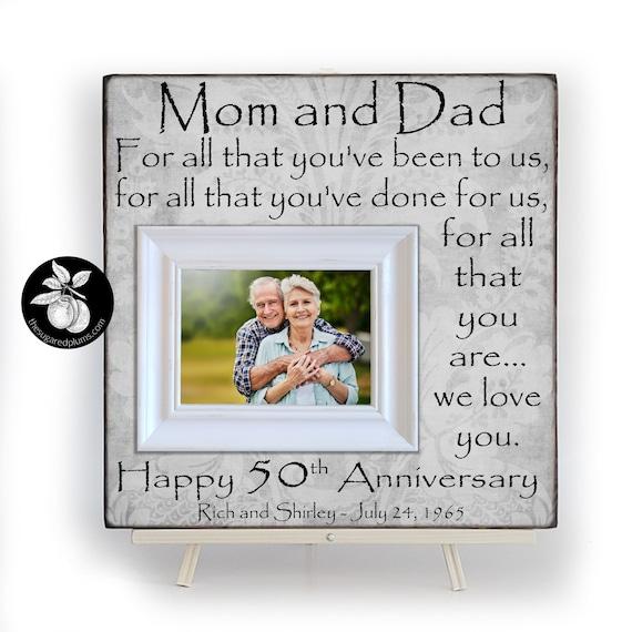 Anniversary Gifts Photo Frame 60th Anniversary Gift Grandparents Gift Anniversary Engraved Frame Gift for Parents Anniversary Gift