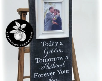 Mother of the Groom Gift, Wedding Frame, Today a Groom, 8x20 The Sugared Plums Frames