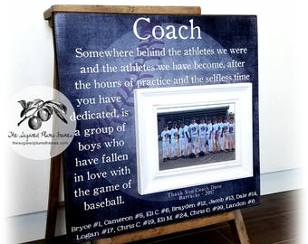 Baseball Coach Gift, Coach Thank You Gift, Baseball Team Photo, Baseball Manager, Coach Frame, All Stars Team 16x16 The Sugared Plums Frames