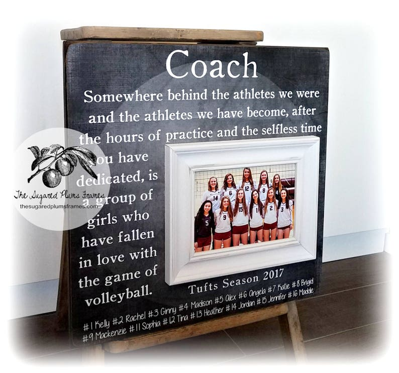 Volleyball Coach Gift, Volleyball Gifts, Coach Thank You Gift, Volleyball  Senior Gifts, Coach Frame, 16x16 The Sugared Plums Frames