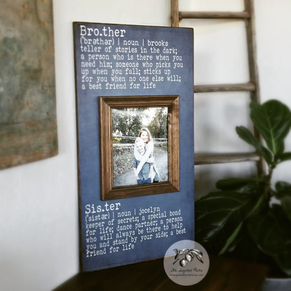 Brother and Sister Frame, Brother and Sister Wall Art, Sibling Gifts ...