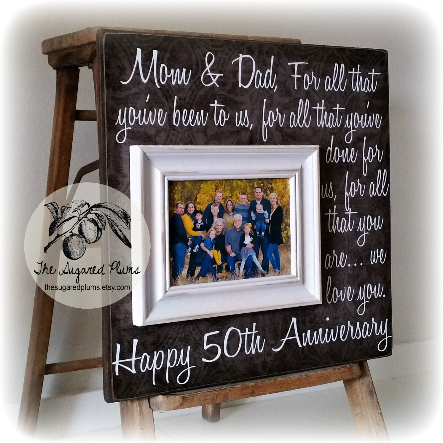 25th Wedding Anniversary Gift For Parents: Parents Anniversary Gift 50th Anniversary Gifts For All That