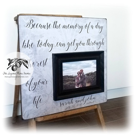 Wedding Gift Husband Custom Wedding Frame Unique Wedding Etsy