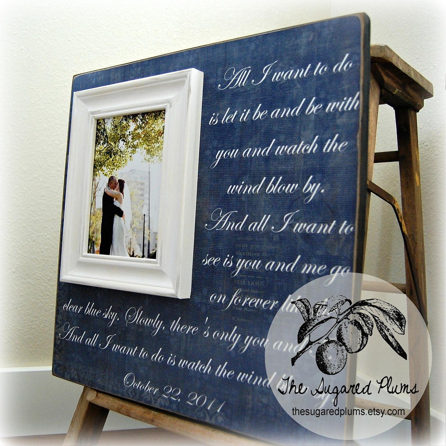 Wedding Gift Personalized Picture Frame 16x16 ALL I WANT
