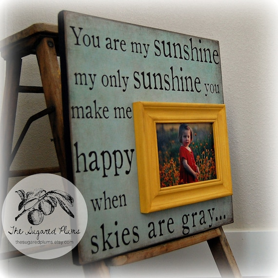 You Are My Sunshine Personalized Picture Frame Custom 16x16 Etsy