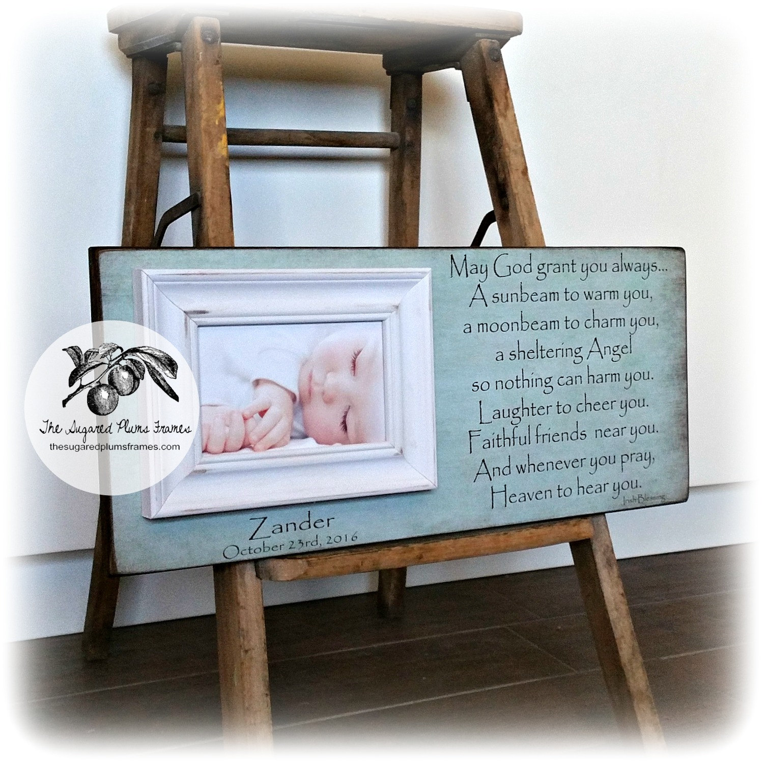 Picture Frame, Irish Blessing Frame, Personalized Picture Frame ...
