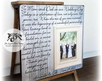 Parent wedding gift, Parent thank you Gift, Parent wedding gift frame, Parent gift ,Today is a Celebration, 16x16 The Sugared Plums