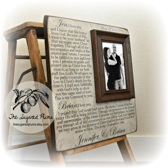 Wedding Vows Framed Wedding Vows Unique Wedding Gift Etsy