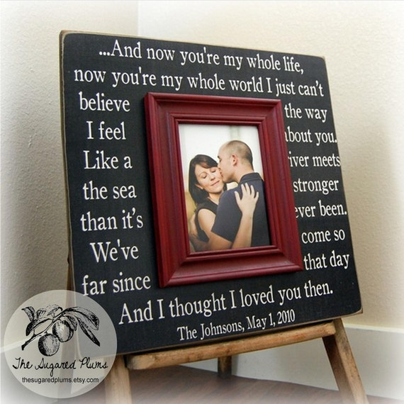 Wedding Gift Custom Wedding Frame Unique Wedding Gift Etsy