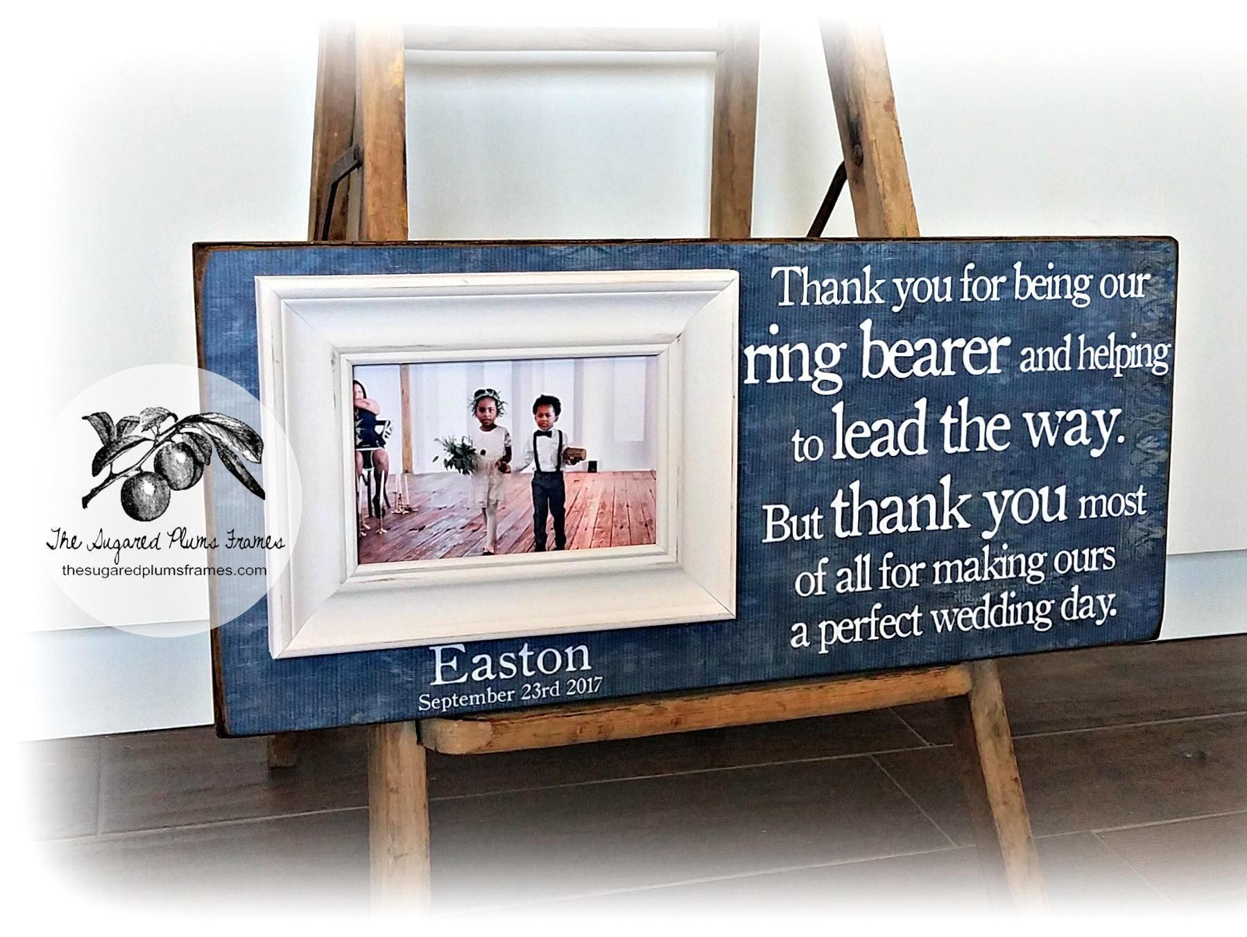 Ring Bearer Gift Flower Girl Gift Ring Bearer Frame Flower | Etsy