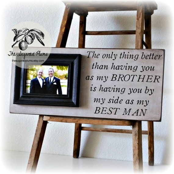 Brother Wedding Gift: Best Man Gift Groomsman Groomsmen Brother Wedding Gift