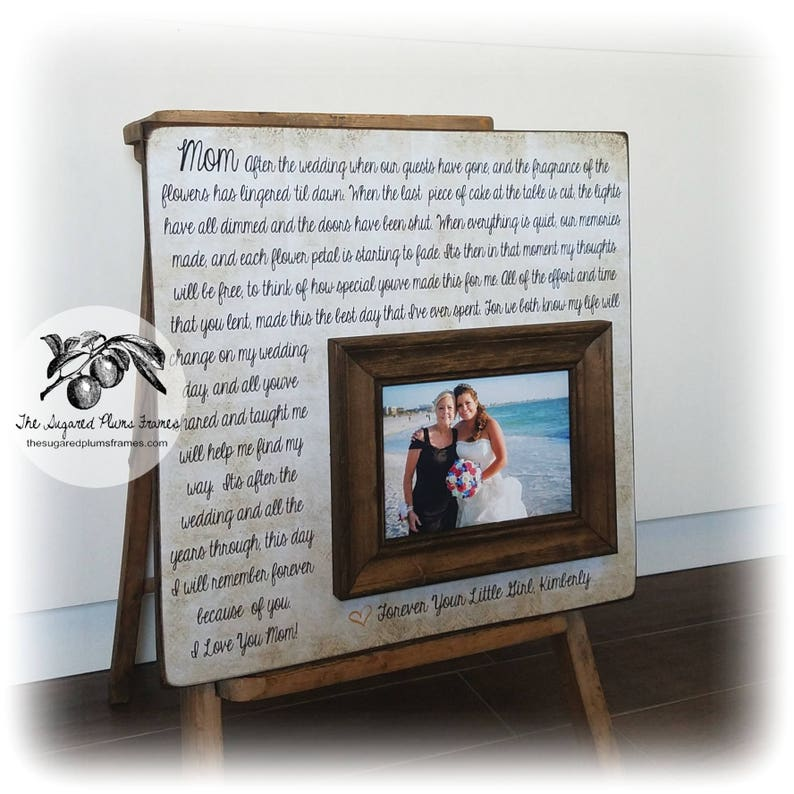 Personalized Frame for Mom Mother of the Bride Gift from Bride After the Wedding 16x16