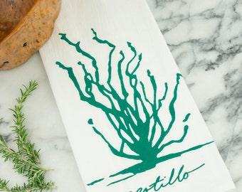 Ocotillo Succulent Cotton Flour Sack Tea Towel