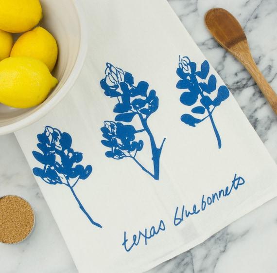 Texas Bluebonnet Wildflower Tea Towel Etsy